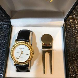 Unisex golf wristwatch.